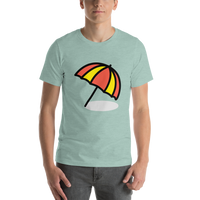 Emoji T-Shirt Store | Umbrella On Ground emoji t-shirt in Green
