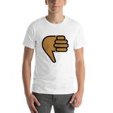 Emoji T-Shirt Store | Thumbs Down, Medium Dark Skin Tone emoji t-shirt in White