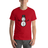 Emoji T-Shirt Store | Snowman Without Snow emoji t-shirt in Red