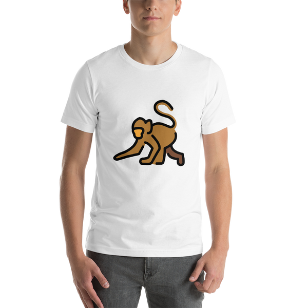 Emoji T-Shirt Store | Monkey emoji t-shirt in White