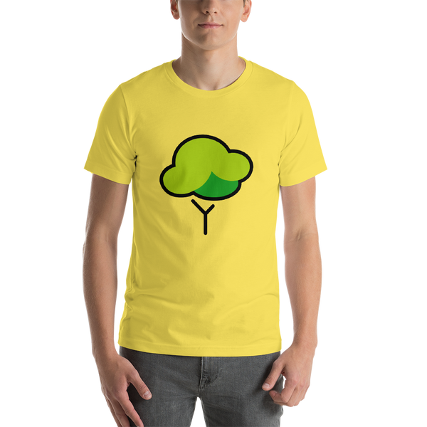 Emoji T-Shirt Store | Deciduous Tree emoji t-shirt in Yellow