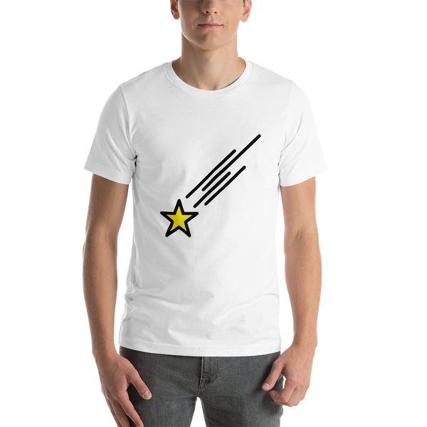 Emoji T-Shirt Store | Shooting Star emoji t-shirt in White