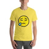 Emoji T-Shirt Store | Sad But Relieved Face emoji t-shirt in Yellow
