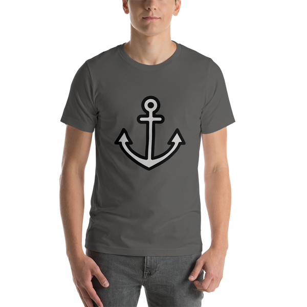 Emoji T-Shirt Store | Anchor emoji t-shirt in Dark gray