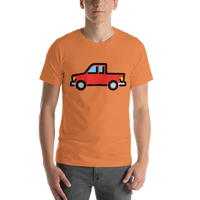 Emoji T-Shirt Store | Pickup Truck emoji t-shirt in Orange