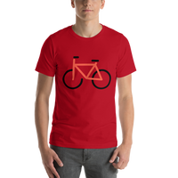 Emoji T-Shirt Store | Bicycle emoji t-shirt in Red