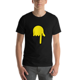 Emoji T-Shirt Store | Backhand Index Pointing Down emoji t-shirt in Black