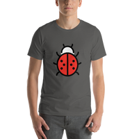 Emoji T-Shirt Store | Lady Beetle emoji t-shirt in Dark gray