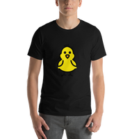 Emoji T-Shirt Store | Front-Facing Baby Chick emoji t-shirt in Black