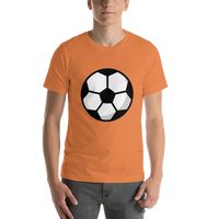 Emoji T-Shirt Store | Soccer Ball emoji t-shirt in Orange