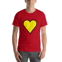Emoji T-Shirt Store | Yellow Heart emoji t-shirt in Red