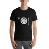 Emoji T-Shirt Store | Fork And Knife With Plate emoji t-shirt in Black