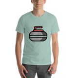 Emoji T-Shirt Store | Curling Stone emoji t-shirt in Green