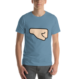 Emoji T-Shirt Store | Right Facing Fist, Light Skin Tone emoji t-shirt in Blue