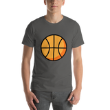 Emoji T-Shirt Store | Basketball emoji t-shirt in Dark gray