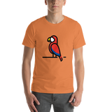 Emoji T-Shirt Store | Parrot emoji t-shirt in Orange