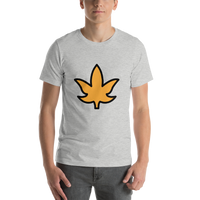 Emoji T-Shirt Store | Maple Leaf emoji t-shirt in Light gray