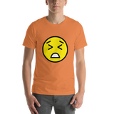 Emoji T-Shirt Store | Persevering Face emoji t-shirt in Orange