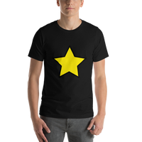 Emoji T-Shirt Store | Star emoji t-shirt in Black