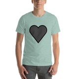 Emoji T-Shirt Store | Black Heart emoji t-shirt in Green