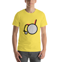 Emoji T-Shirt Store | Manual Wheelchair emoji t-shirt in Yellow