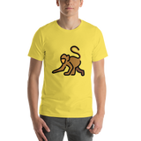 Emoji T-Shirt Store | Monkey emoji t-shirt in Yellow