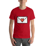 Emoji T-Shirt Store | Love Letter emoji t-shirt in Red