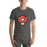 Emoji T-Shirt Store | Mushroom emoji t-shirt in Dark gray