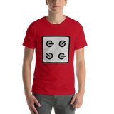 Emoji T-Shirt Store | Control Knobs emoji t-shirt in Red