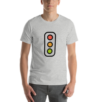 Emoji T-Shirt Store | Vertical Traffic Light emoji t-shirt in Light gray