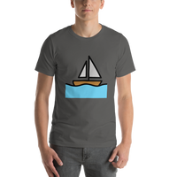 Emoji T-Shirt Store | Sailboat emoji t-shirt in Dark gray