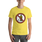 Emoji T-Shirt Store | No Littering emoji t-shirt in Yellow