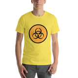 Emoji T-Shirt Store | Biohazard emoji t-shirt in Yellow