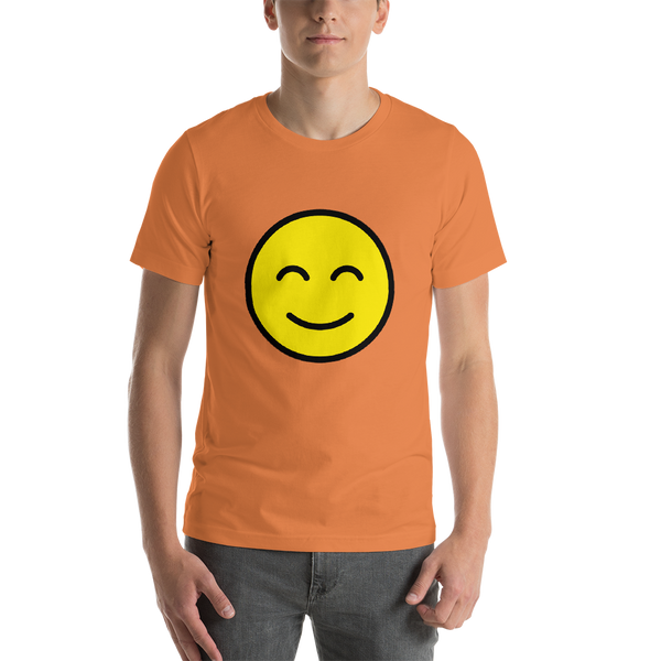 Emoji T-Shirt Store | Smiling Face With Smiling Eyes emoji t-shirt in Orange