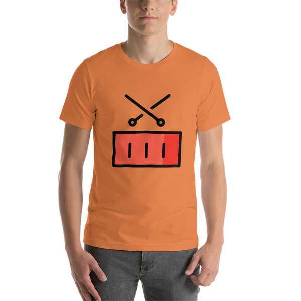 Emoji T-Shirt Store | Drum emoji t-shirt in Orange