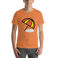 Emoji T-Shirt Store | Umbrella On Ground emoji t-shirt in Orange