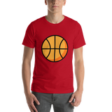 Emoji T-Shirt Store | Basketball emoji t-shirt in Red