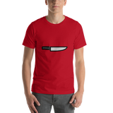 Emoji T-Shirt Store | Kitchen Knife emoji t-shirt in Red