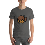 Emoji T-Shirt Store | Blowfish emoji t-shirt in Dark gray