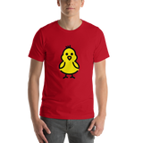 Emoji T-Shirt Store | Front-Facing Baby Chick emoji t-shirt in Red