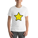 Emoji T-Shirt Store | Star emoji t-shirt in White