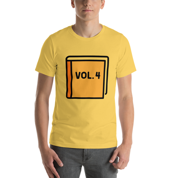 Emoji T-Shirt Store | Orange Book emoji t-shirt in Yellow