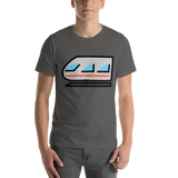 Emoji T-Shirt Store | Light Rail emoji t-shirt in Dark gray