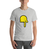 Emoji T-Shirt Store | Backhand Index Pointing Down emoji t-shirt in Light gray
