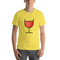 Emoji T-Shirt Store | Wine Glass emoji t-shirt in Yellow