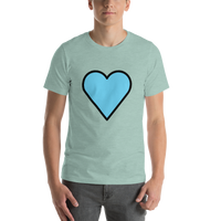 Emoji T-Shirt Store | Blue Heart emoji t-shirt in Green