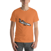 Emoji T-Shirt Store | Airplane Arrival emoji t-shirt in Orange