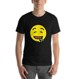 Emoji T-Shirt Store | Drooling Face emoji t-shirt in Black