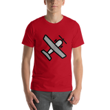 Emoji T-Shirt Store | Small Airplane emoji t-shirt in Red