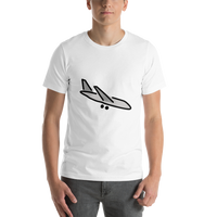 Emoji T-Shirt Store | Airplane Arrival emoji t-shirt in White